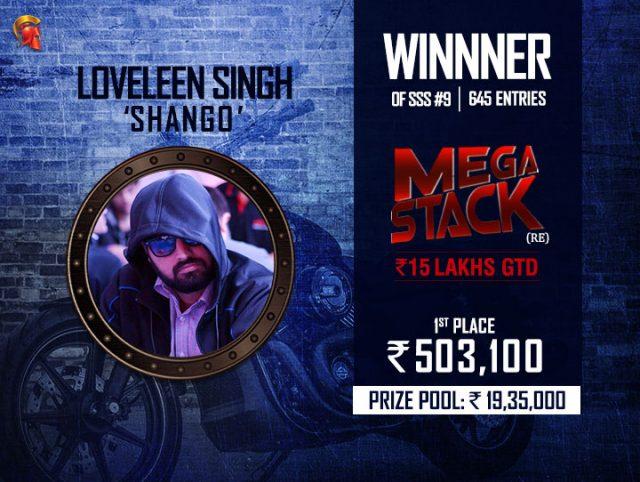 Loveleen Singh Mega Stack Winner