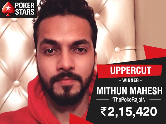 Mithun Mahesh strikes Uppercut on PokerStars India