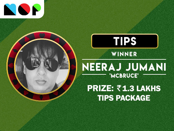 Neeraj Jumani converts Rs 110 into TIPS package on MOP