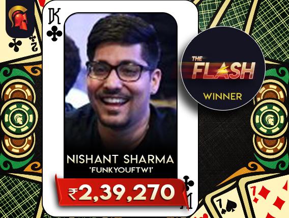 Nishant Sharma registers Spartan Flash win yesterday