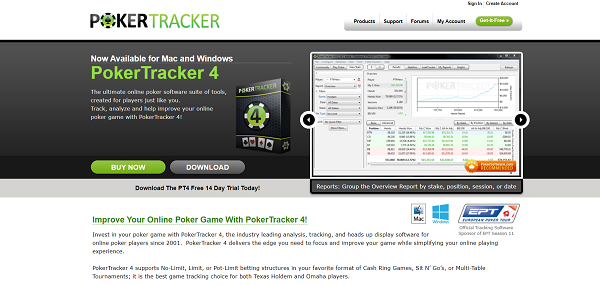 PokerTracker 4 - top poker tools and software