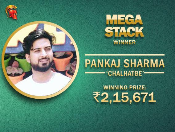Pankaj Sharma wins Mega Stack on Spartan
