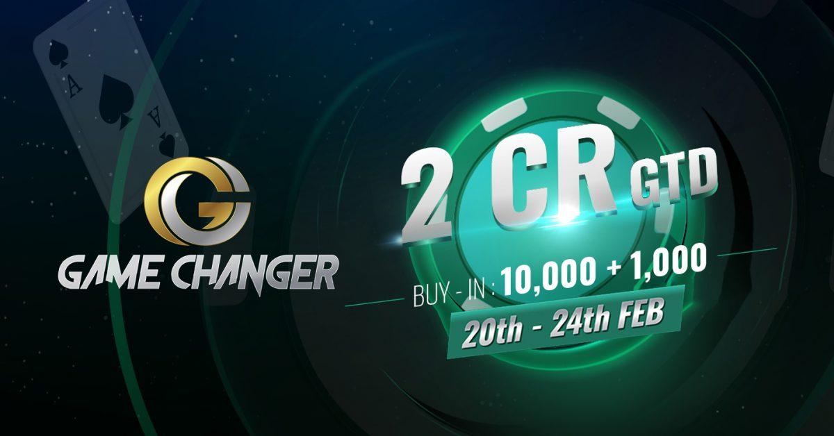 PokerBaazi announces dates for 2CR GTD Game Changer