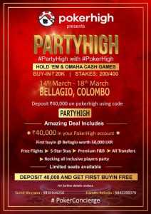 PokerHigh launches third 'Poker Concierge' in Colombo_2