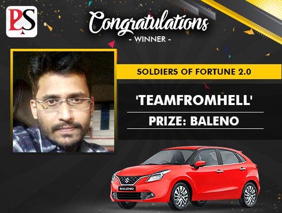 PokerSaint Soldiers of Fortune 2.0 'Teamfromhell' wins Baleno