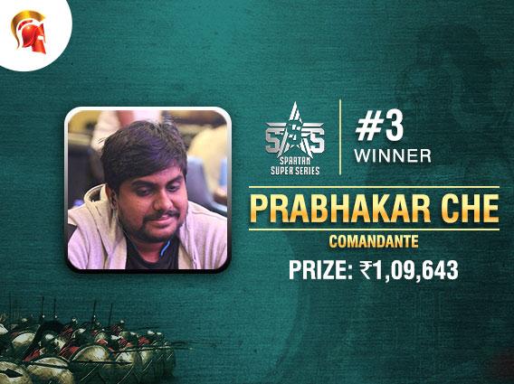 Prabhakar Che ships SSS Event #3 on Spartan