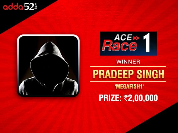 Pradeep Singh wins Adda52's Ace Race I