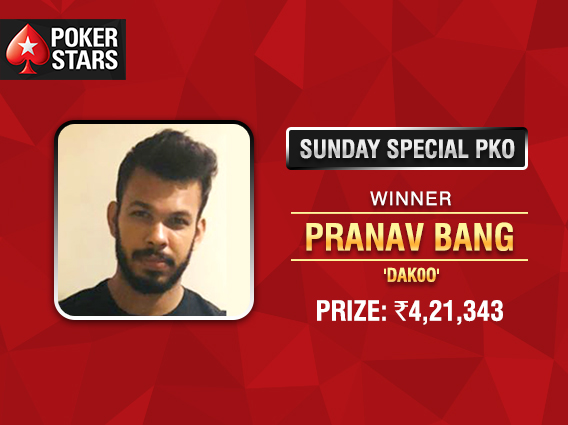 Pranav Bang wins PokerStars India Sunday Special
