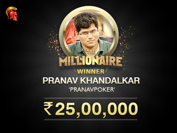 Pranav Khandalkar is the May Millionaire at Spartan