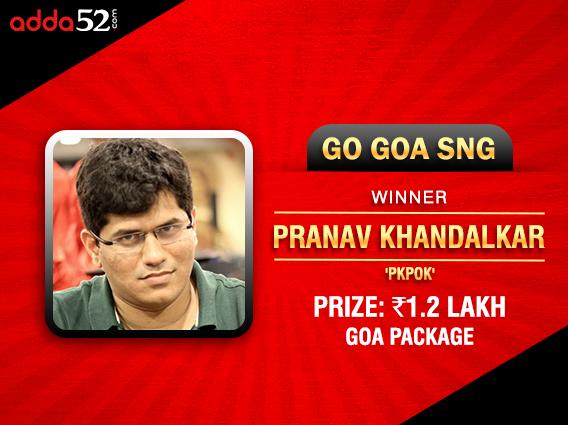Pranav Khandalkar wins Adda52's 1.2L package to Goa
