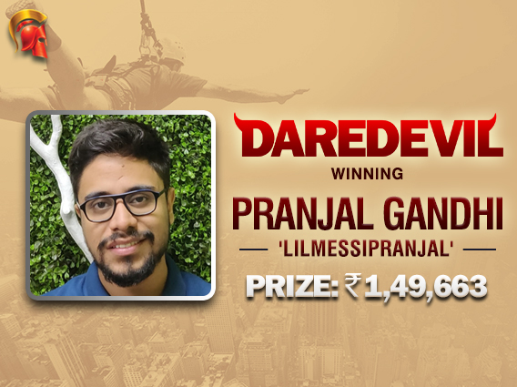 Pranjal Gandhi wins first Daredevil title on Spartan