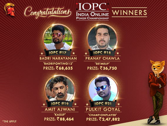 Pulkit Goyal and others crowned on IOPC Day 4