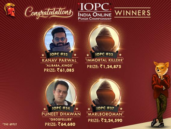 Puneet Dhawan among 5 other winners on IOPC Day 7