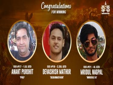 Purohit, Mathur, Nagpal among winners on SSS Day 4
