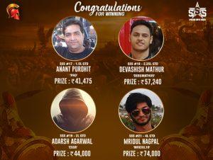 Purohit, Mathur, Nagpal among winners on SSS Day 4_2