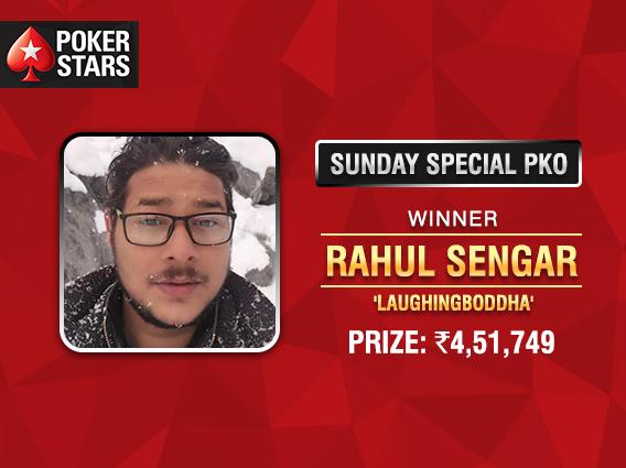 Rahul Sengar wins PokerStars Sunday Special PKO