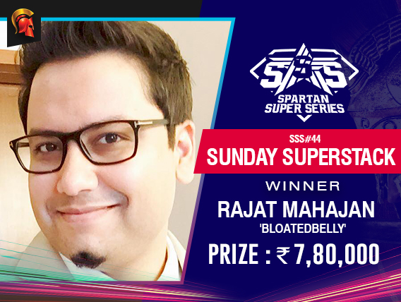 Rajat Mahajan Sunday Superstack Winner