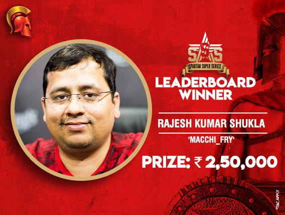 Rajesh Shukla tops SSS Leaderboard again
