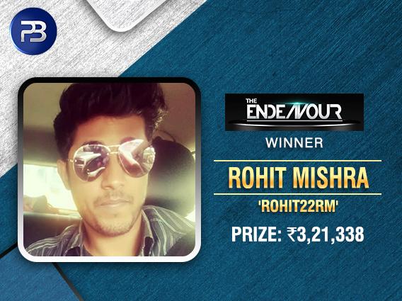 Rohit Mishra wins PokerBaazi Endeavour