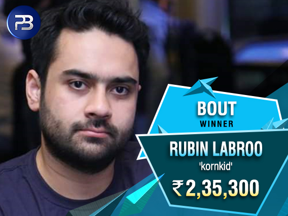 Rubin Labroo wins consecutive Bout titles on PokerBaazi