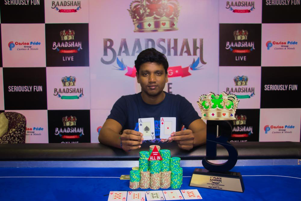 S. Saravanan Wins Baadshah Gaming High Roller Event