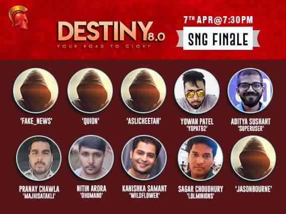 Meet the Destiny 8.0 SNG Finalists