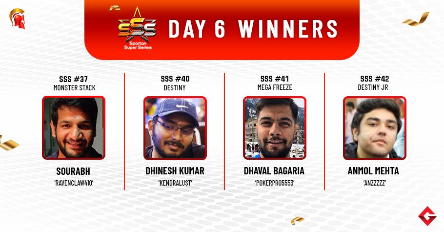 SSS Day 6: Sourabh, Bagaria, Kumar, Mehta grab titles!