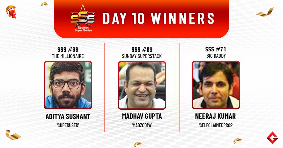 SSS Day 10: Sushant, Gupta, Kumar claim titles!