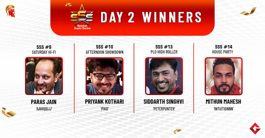 SSS Day 2: Siddarth Singhvi triumphs PLO High Roller!