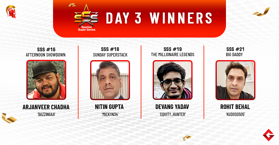 SSS Day 3: Chadha, Gupta, Yadav, Behal among title winners