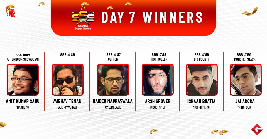 SSS Day 7: Sahu, Temani, Madraswala, Grover, Bhaita, Arora win big!