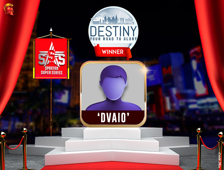 SSS Day 1 dvaio is the 10th Destiny Winner on Spartan