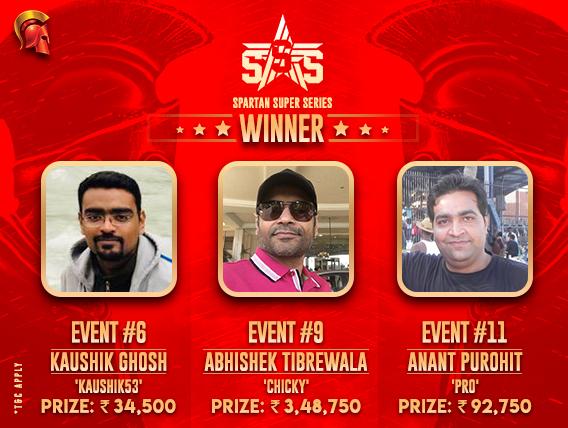 SSS Day 2: Kaushik G, Abhishek T, Anant P win titles