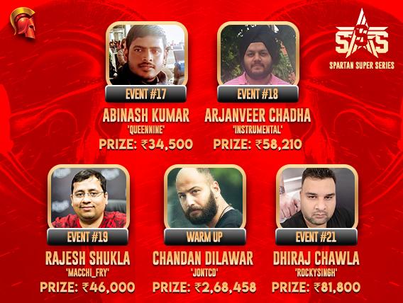 SSS Day 4: Kumar, Chadha, Shukla, Dilawar & Chawla win big