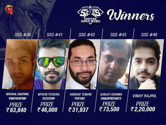 SSS Day 7: Rajpal, Pereira, Temani, Khanna, Agarwal grab titles