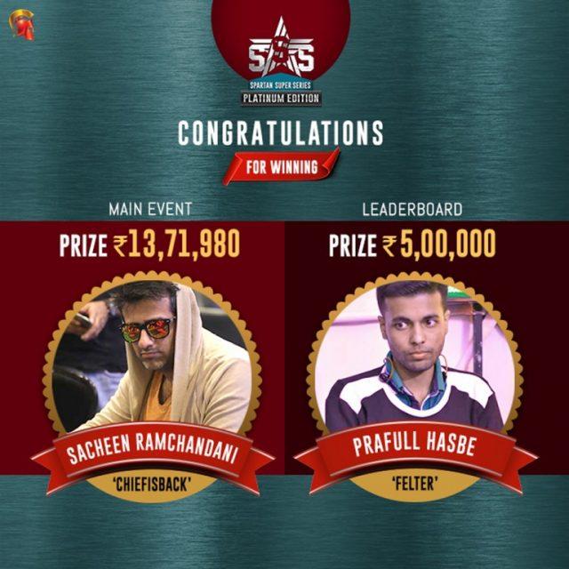 Sacheen Ramchandani and Prafull Hasbe SSS Winner