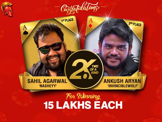 Sahil Agarwal and Ankush Aryan win Spartan's 2OK