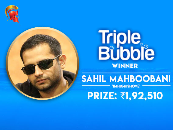 Sahil Mahboobani wins Spartan Triple Bubble