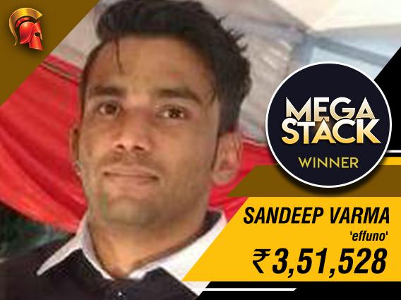 Sandeep Varma takes down Mega Stack on Spartan Poker