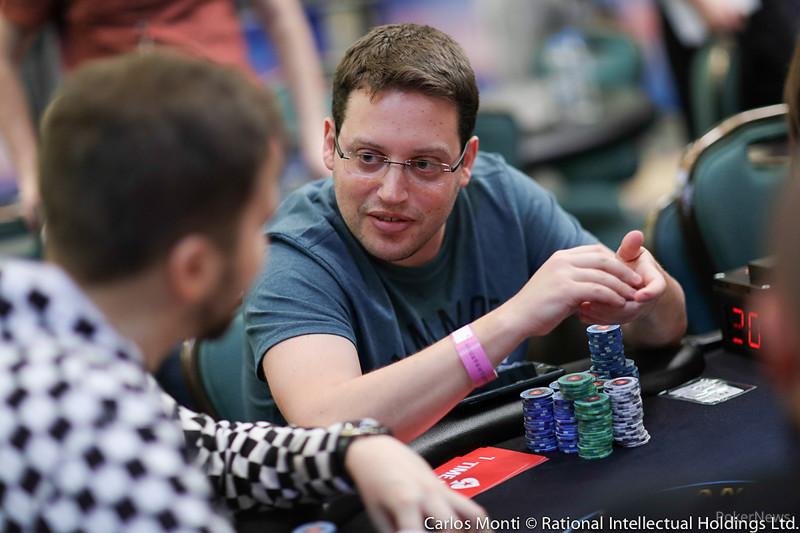 Scott Baumstein with highest chips on PSPC Day 3