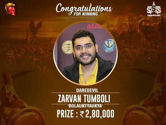 Second SSS title for Zarvan Tumboli; takes down Daredevil