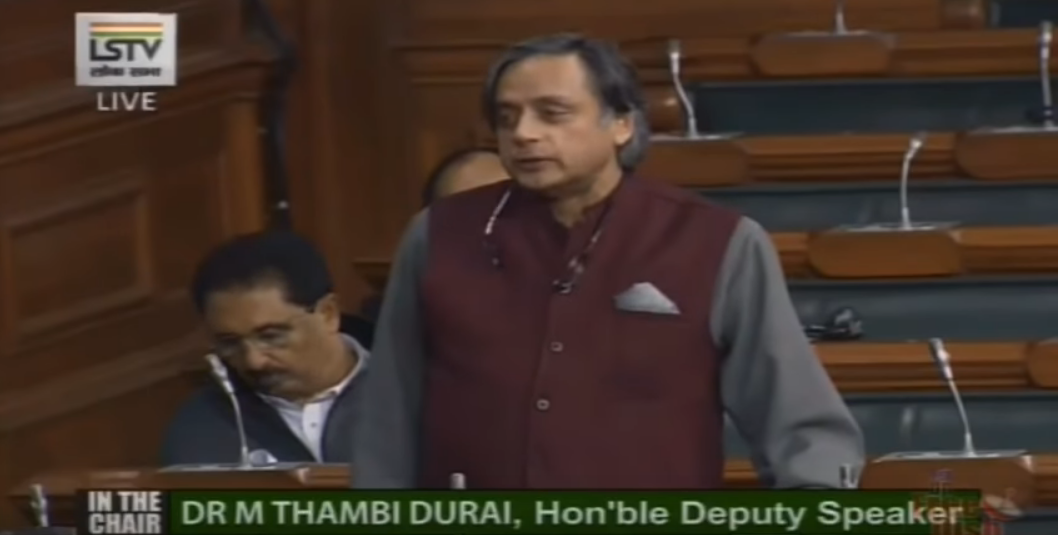 Shashi Tharoor tables sports betting bill in Lok Sabha