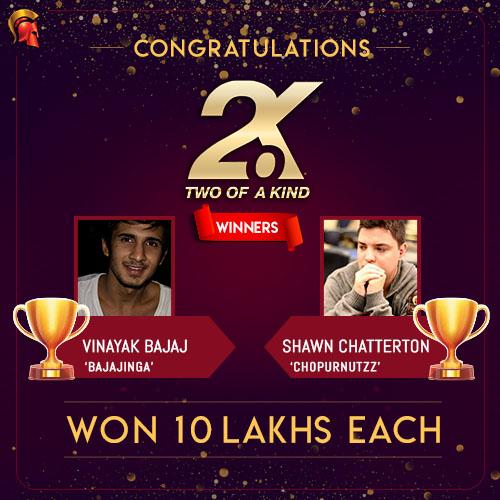 Shawn Chatterton and Vinayak Bajaj October 2.o.K Winner