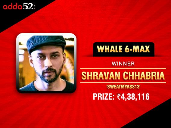 Shravan Chhabria ships Adda52 Whale