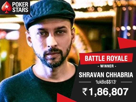 Shravan Chhabria wins PokerStars India Battle Royale