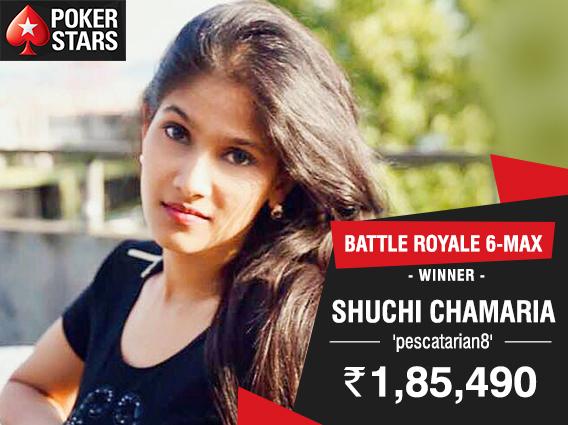 Shuchi Chamaria wins PokerStars India Battle Royale