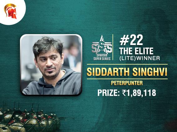 Siddarth Singhvi wins The Elite (Lite) at Spartan's SSS