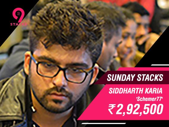 Siddharth Karia wins 2.92L for shipping Sunday Stacks