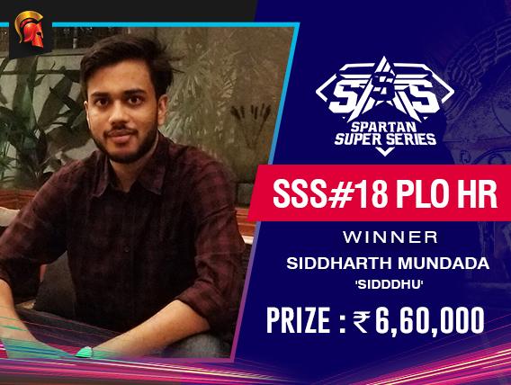 Siddharth Mundada wins Spartan Day 3 SSS PLO HR