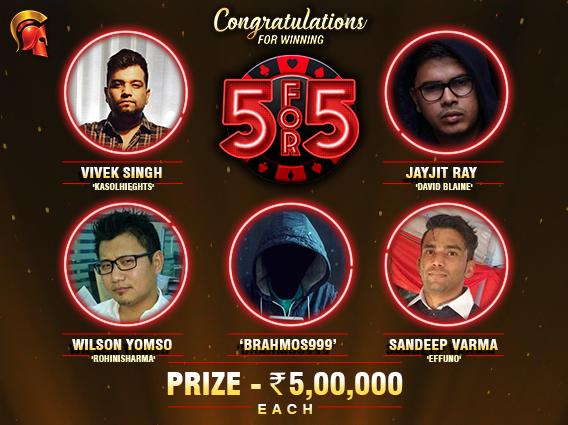 Singh, Varma, Yomso, Ray among Spartan 5For5 winners